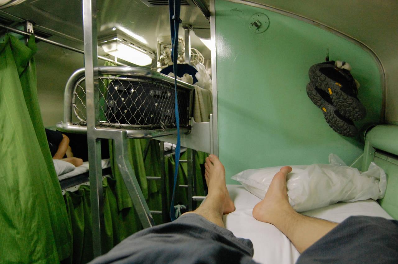 チェンマイ行きの寝台列車