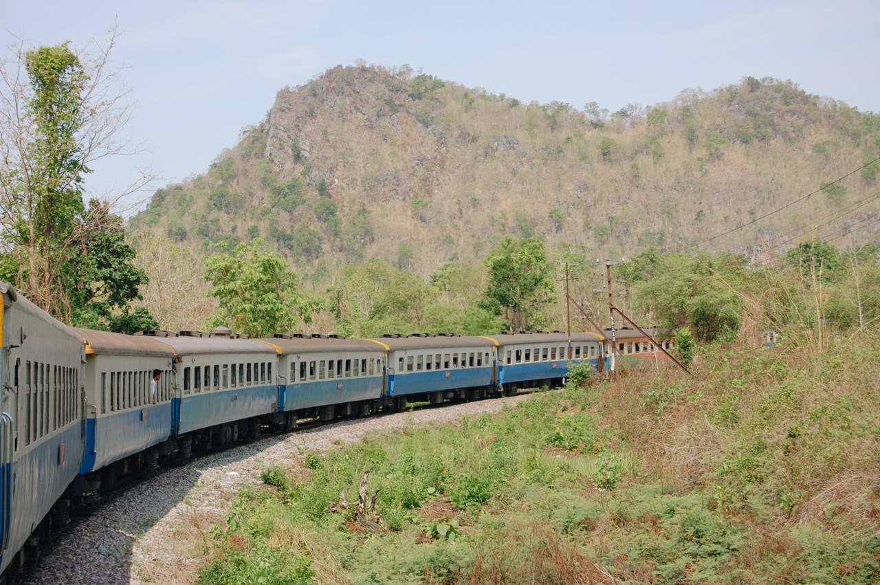 チェンマイへ向かう寝台列車