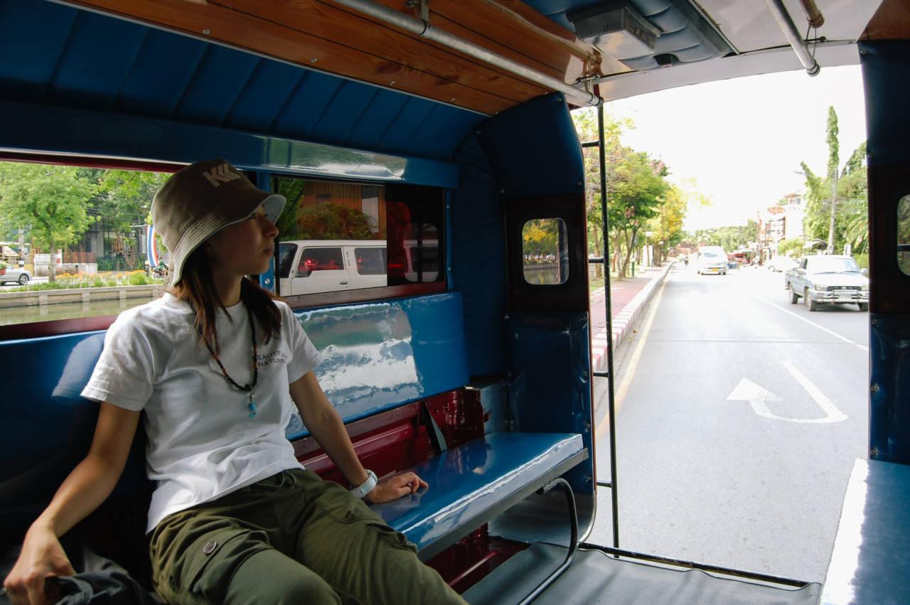 チェンマイの乗合タクシー ソンテウ