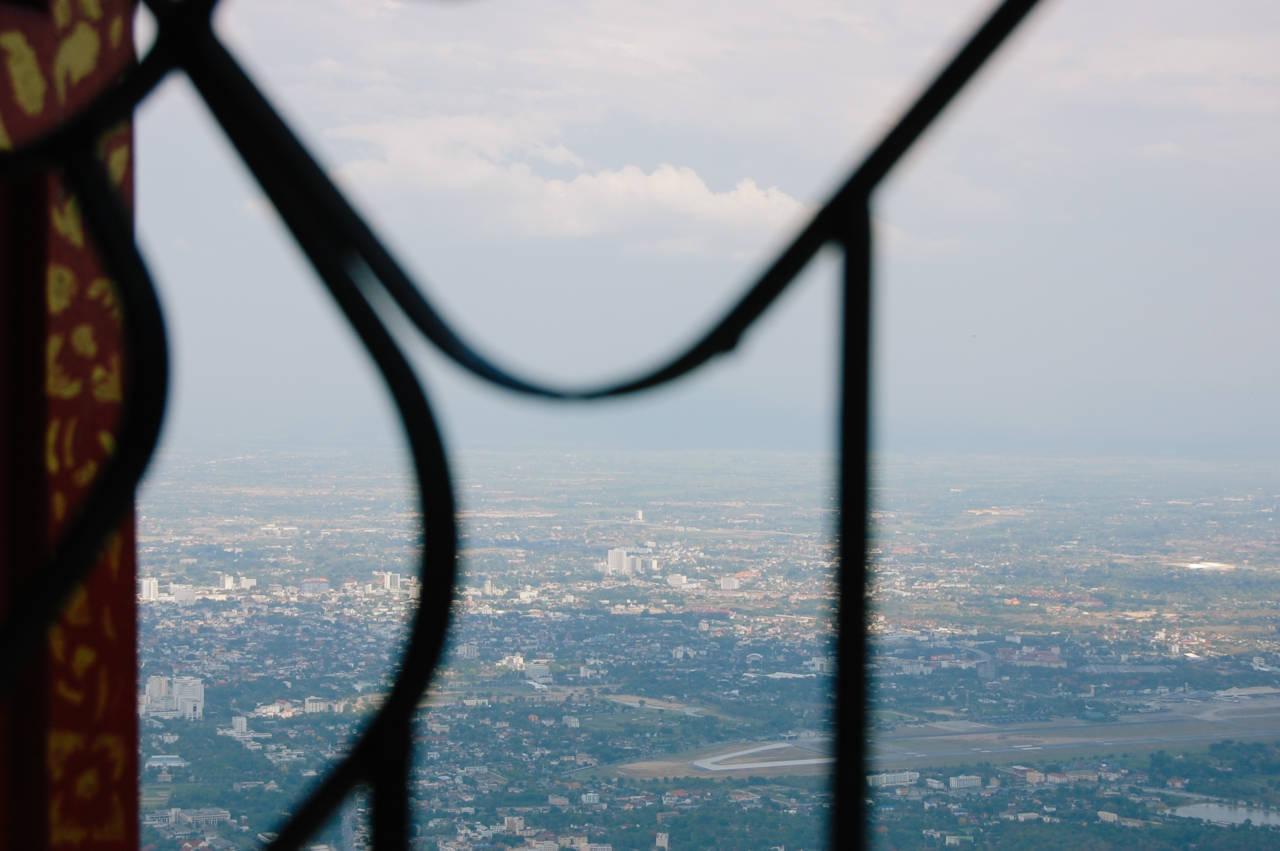 ドイステープ寺院から眺めるチェンマイ
