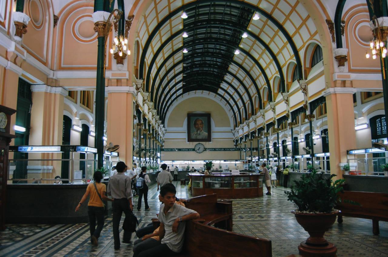 ホーチミンのサイゴン中央郵便局