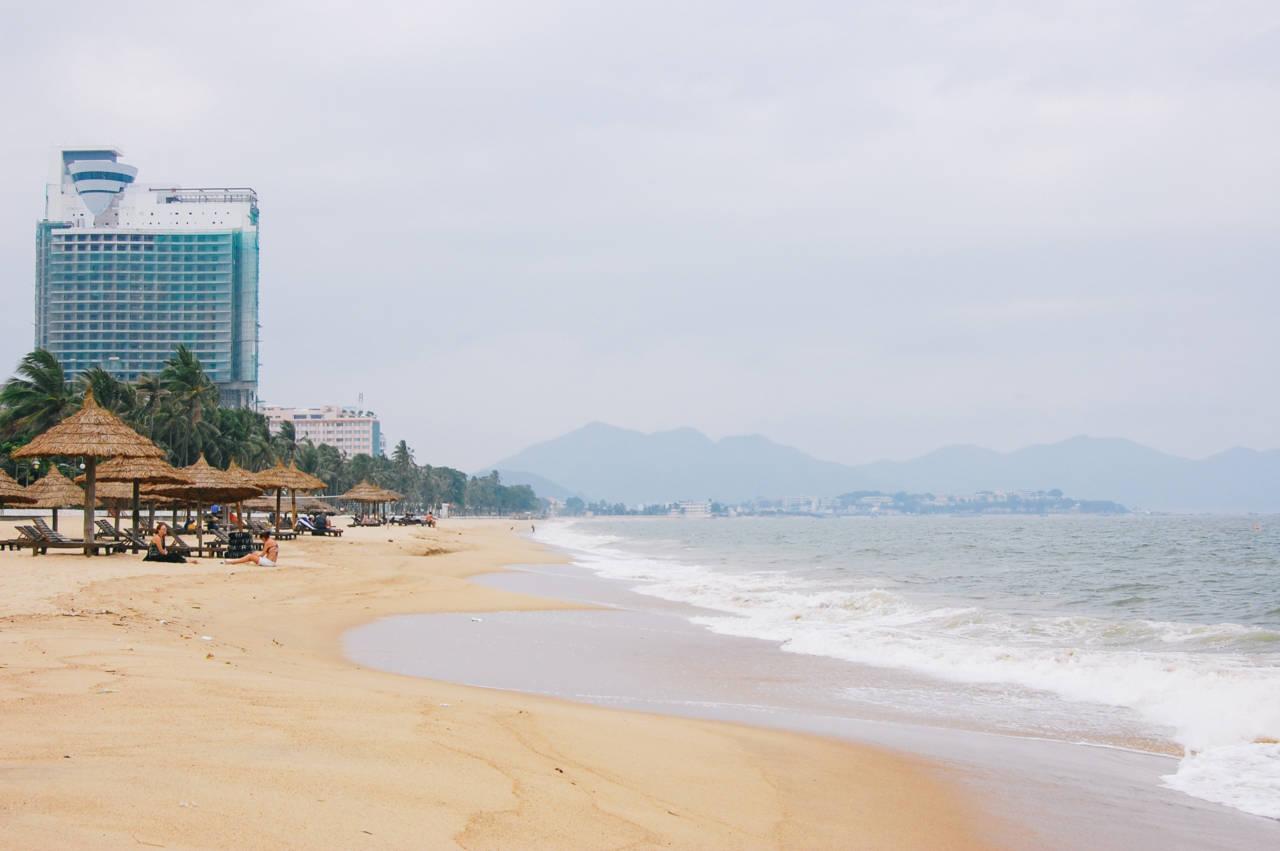 雨季のニャチャンビーチ