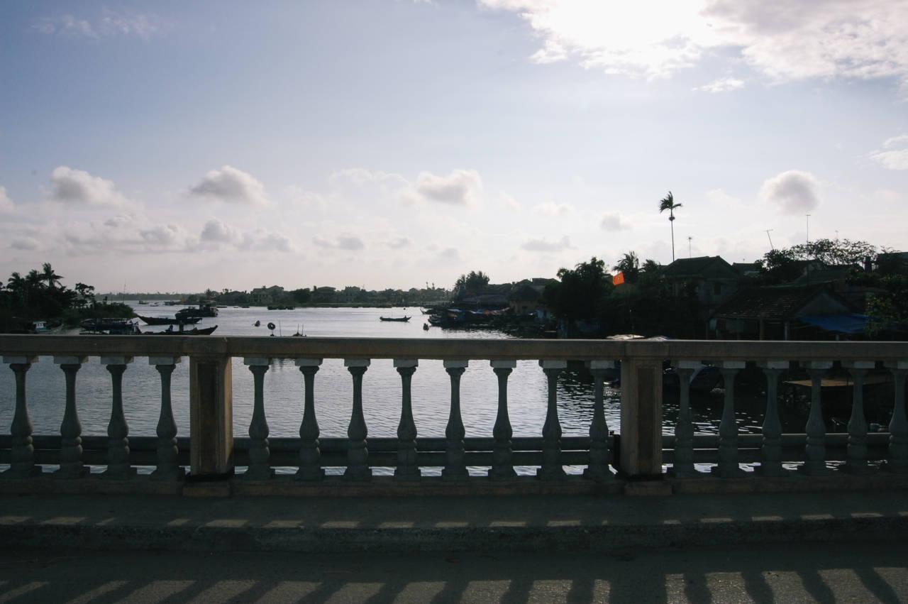 ホイアンを流れるトゥポン川