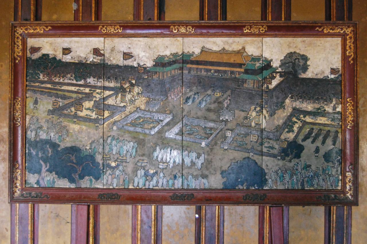 フエの王宮の絵