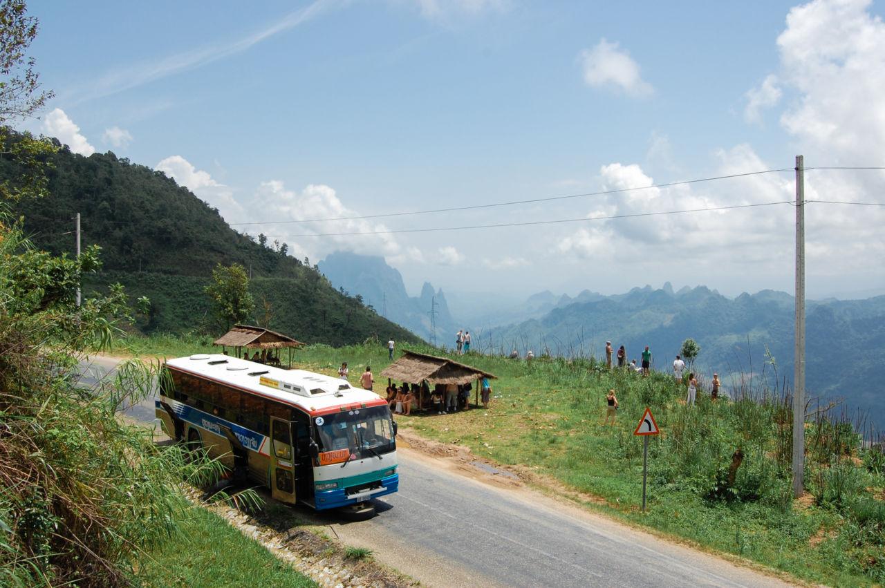 ルアンパバーンまでバスで移動