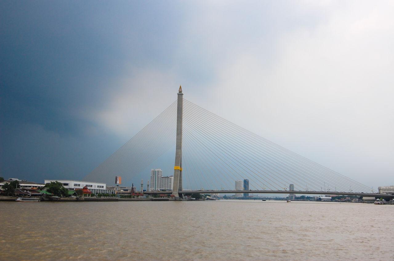 バンコク チャオプラヤー川 ラーマ8世橋