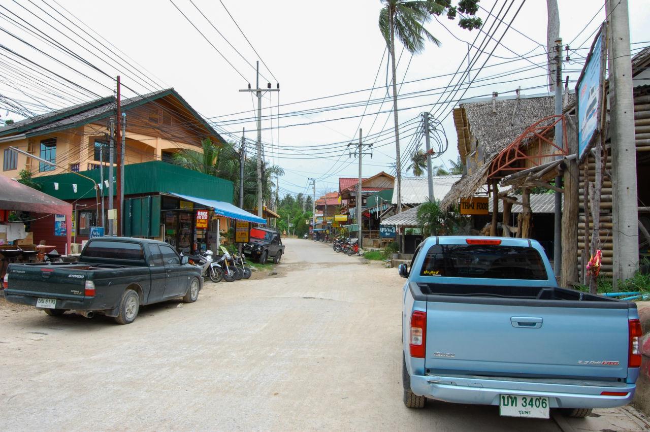 タオ島の通り