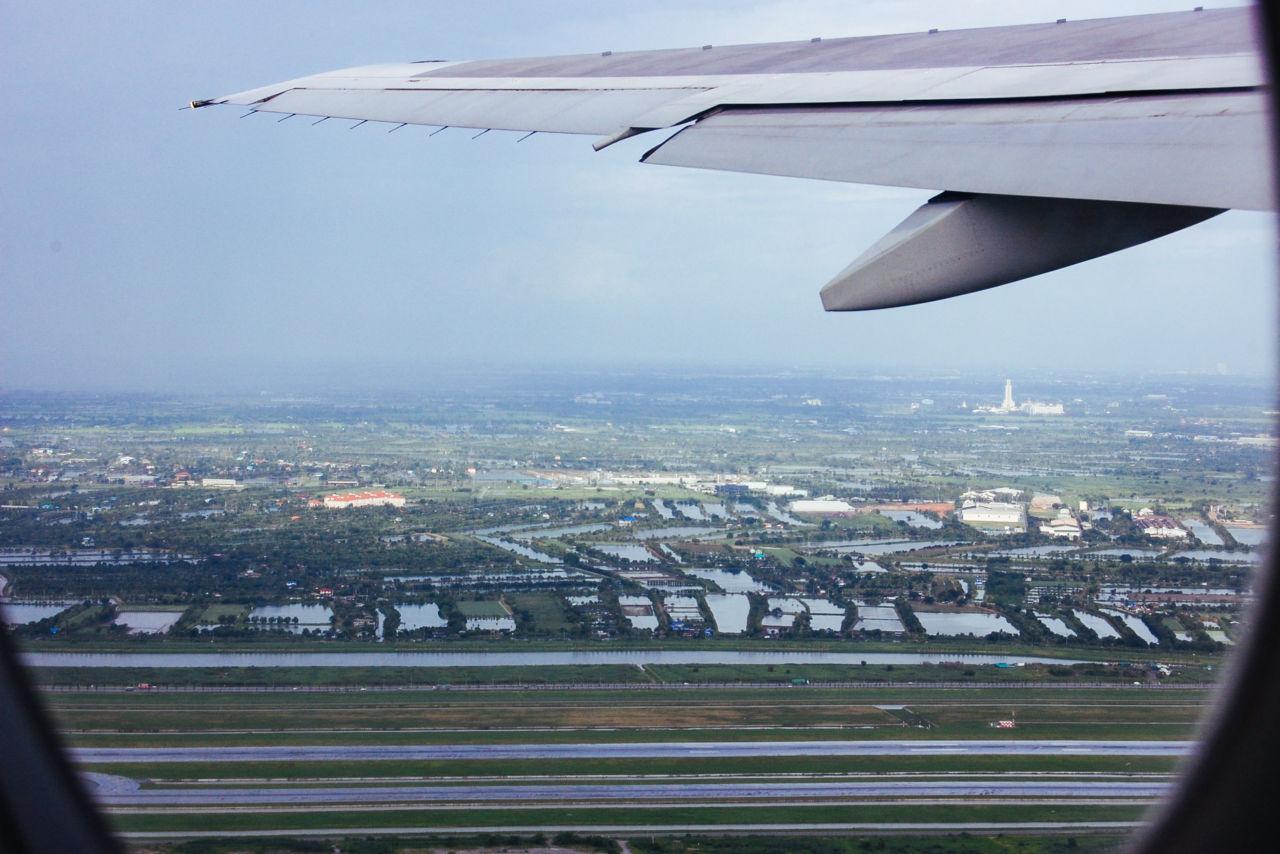 スワンナプーム国際空港 上空