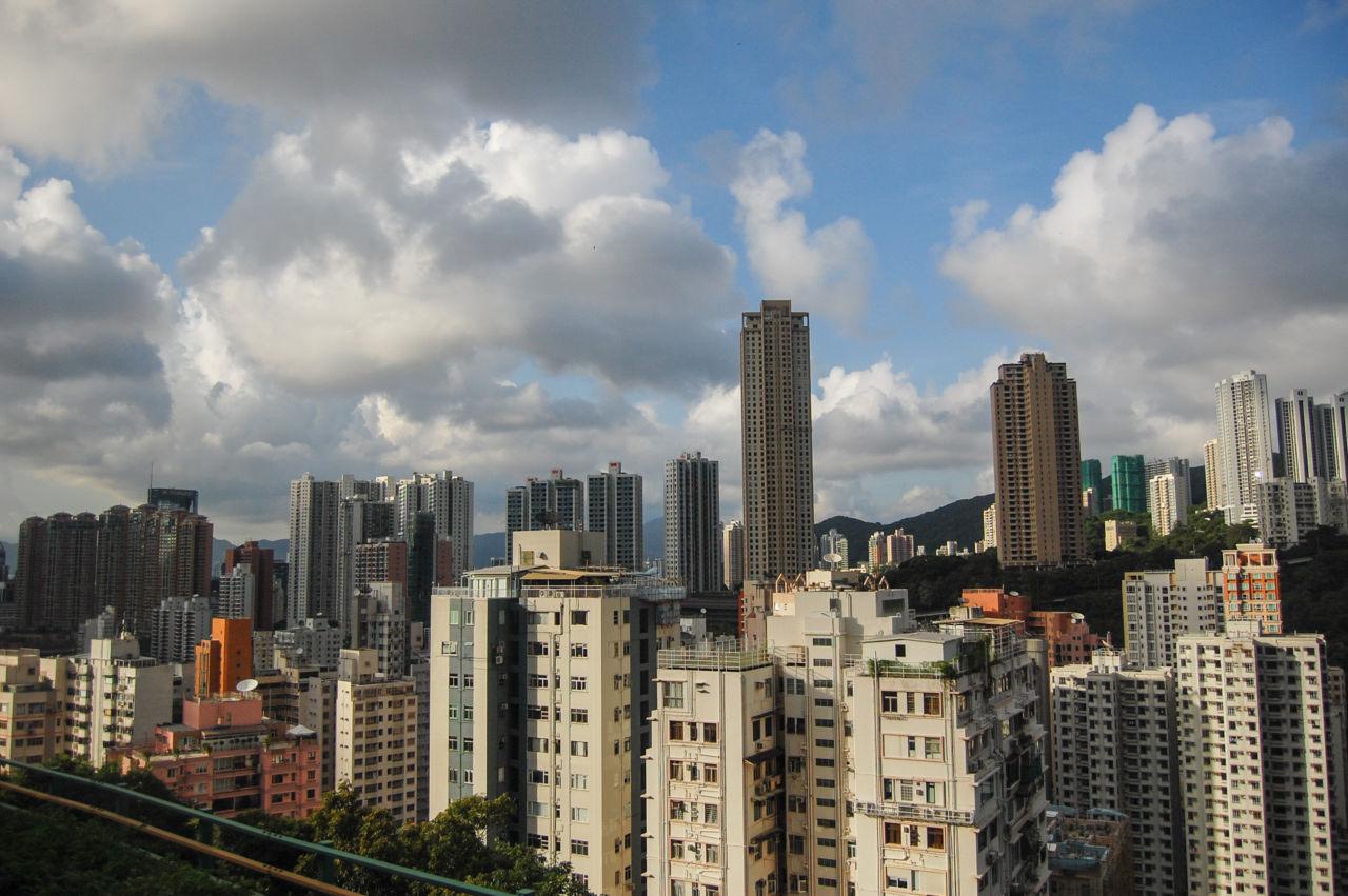 香港島の街並み