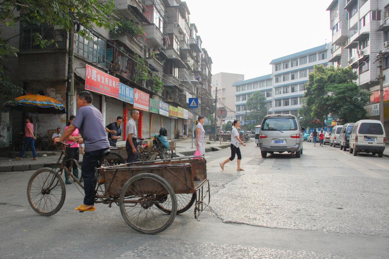 桂林 朝の街並み