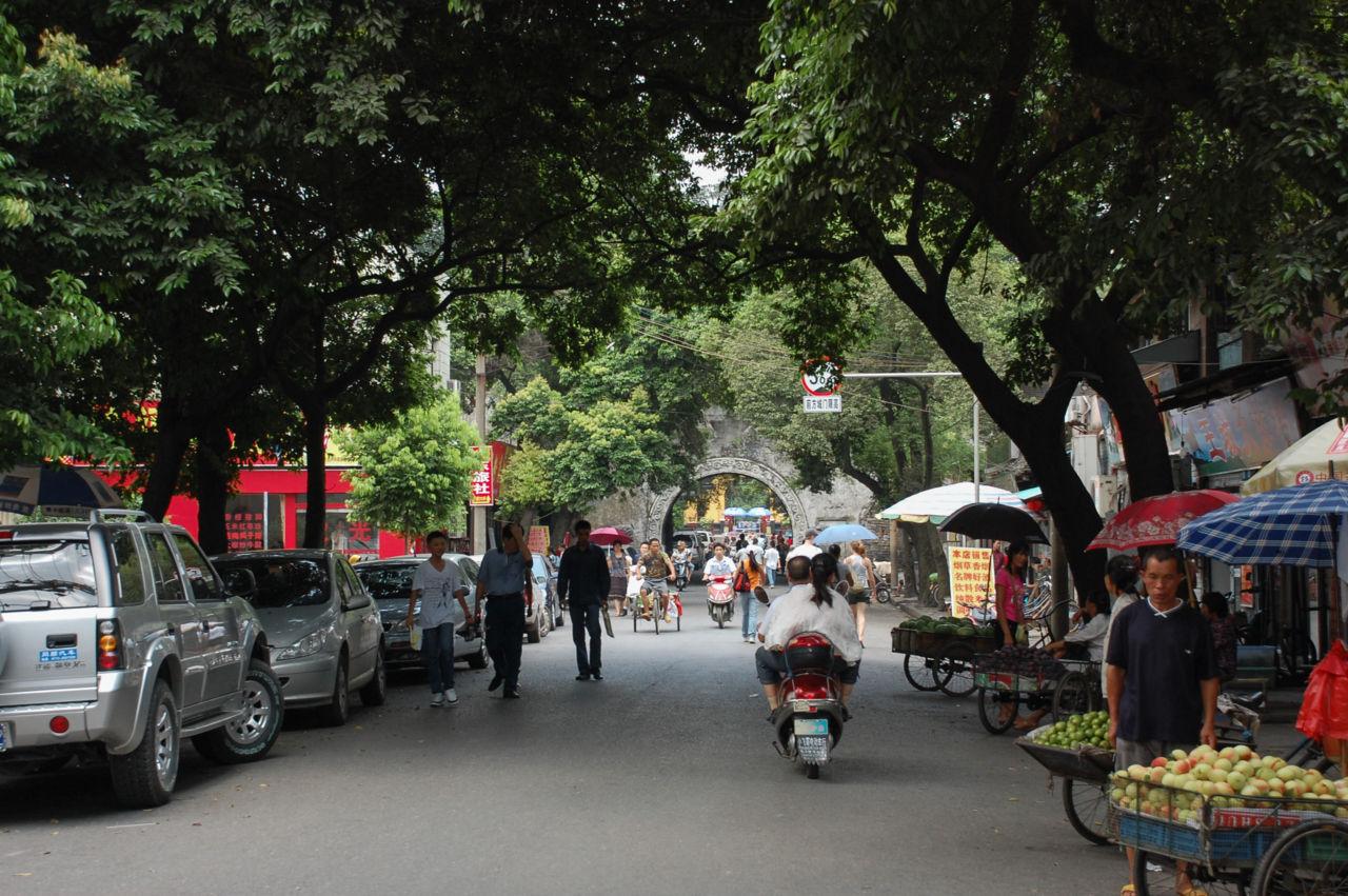 桂林 緑の多い街並み