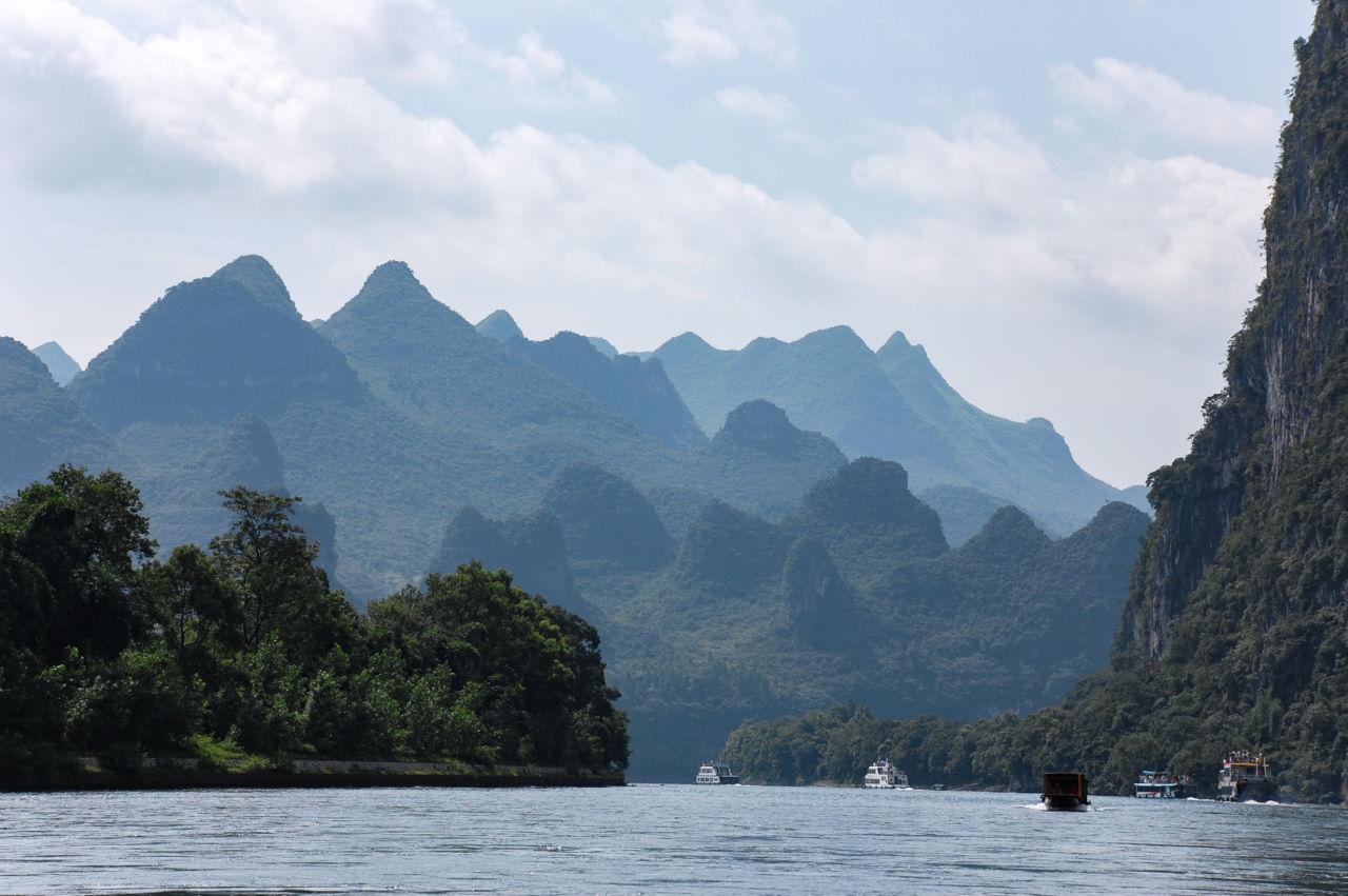 桂林 漓江 観光船