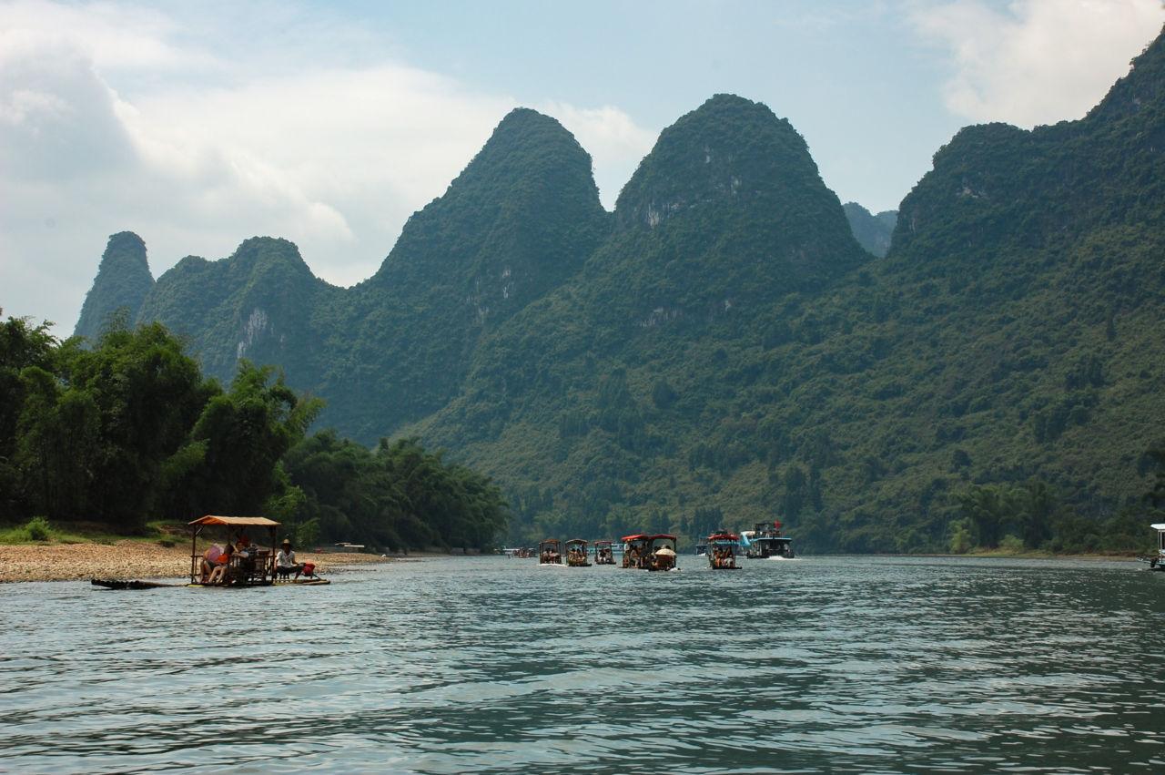 桂林 漓江 筏