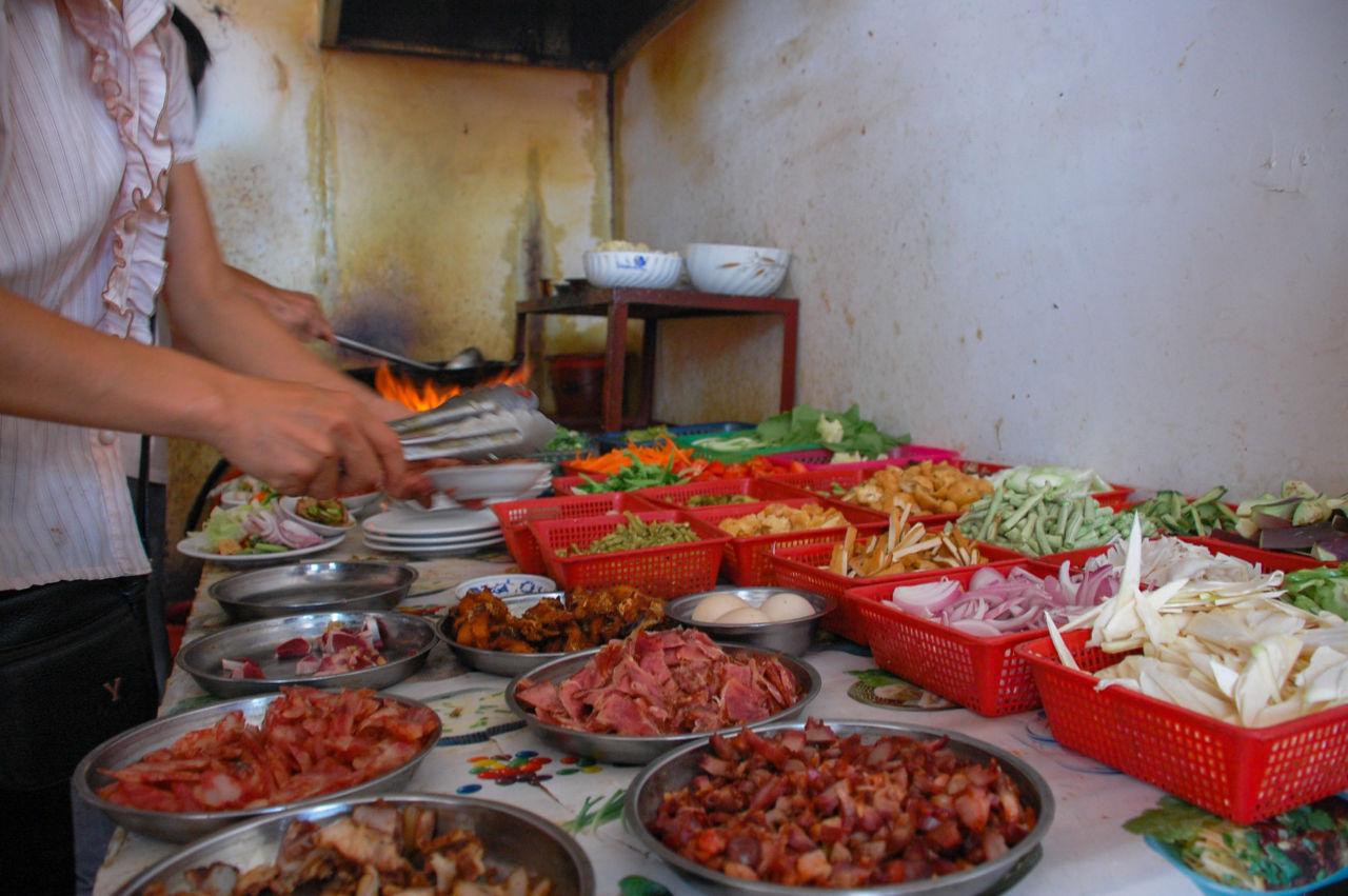 陽朔 飯屋 野菜