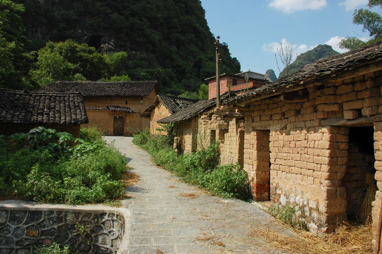 高田郷の古い町並み