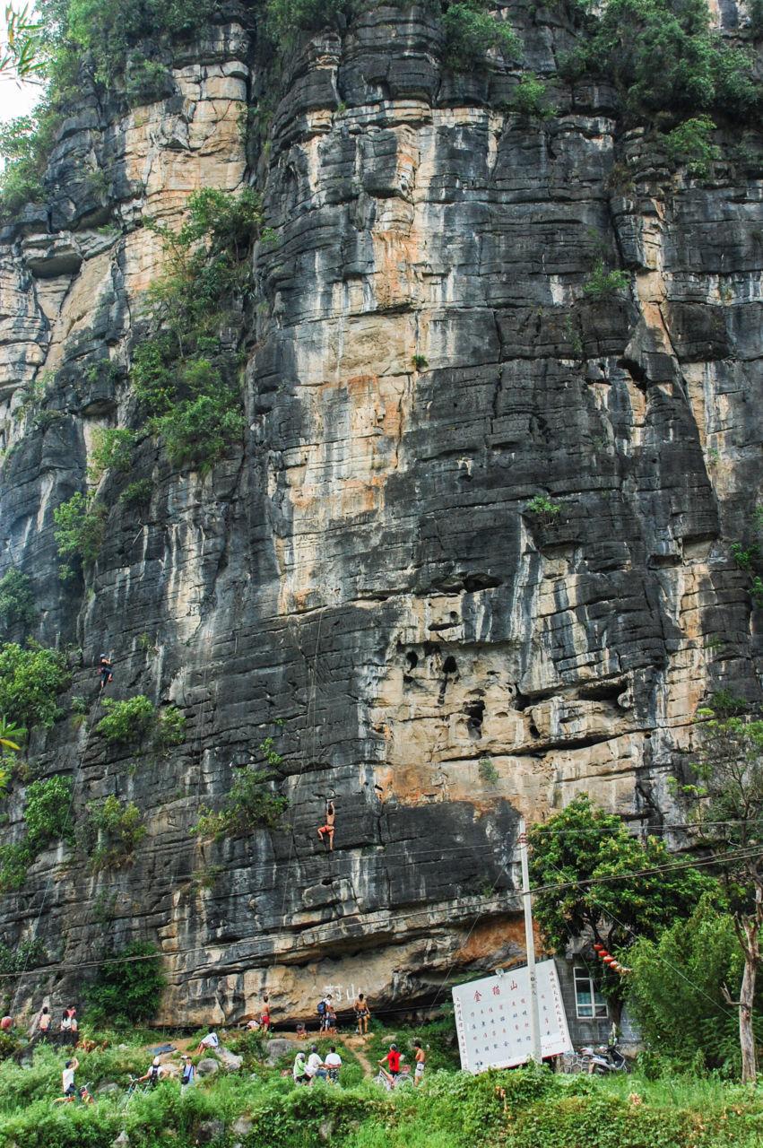 金猫山 クライミング guilin climbing