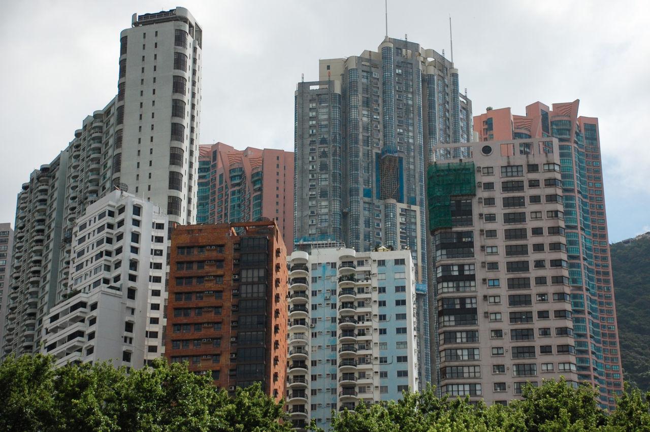 香港島のマンション群