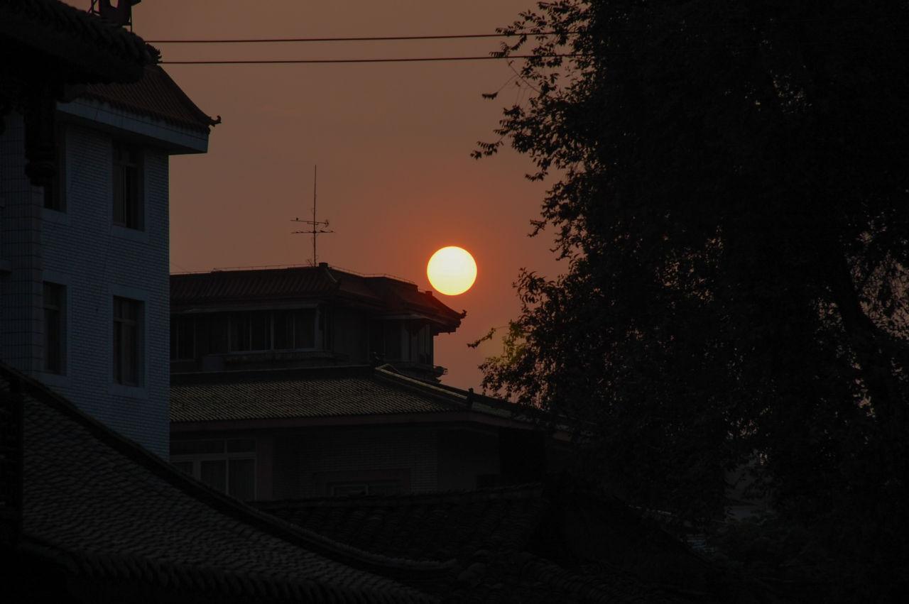 成都 沈む夕陽