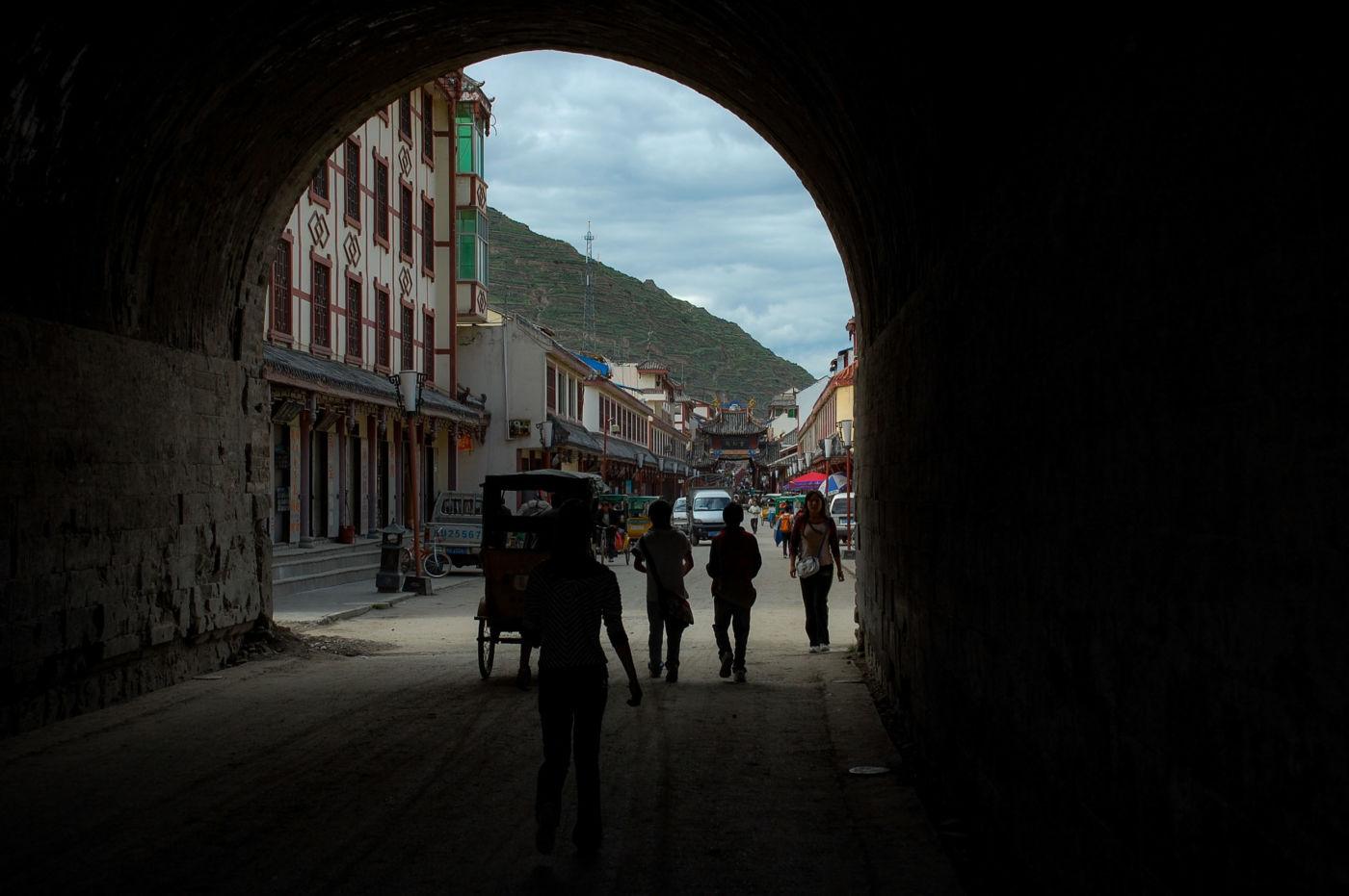 松潘 城壁のトンネル