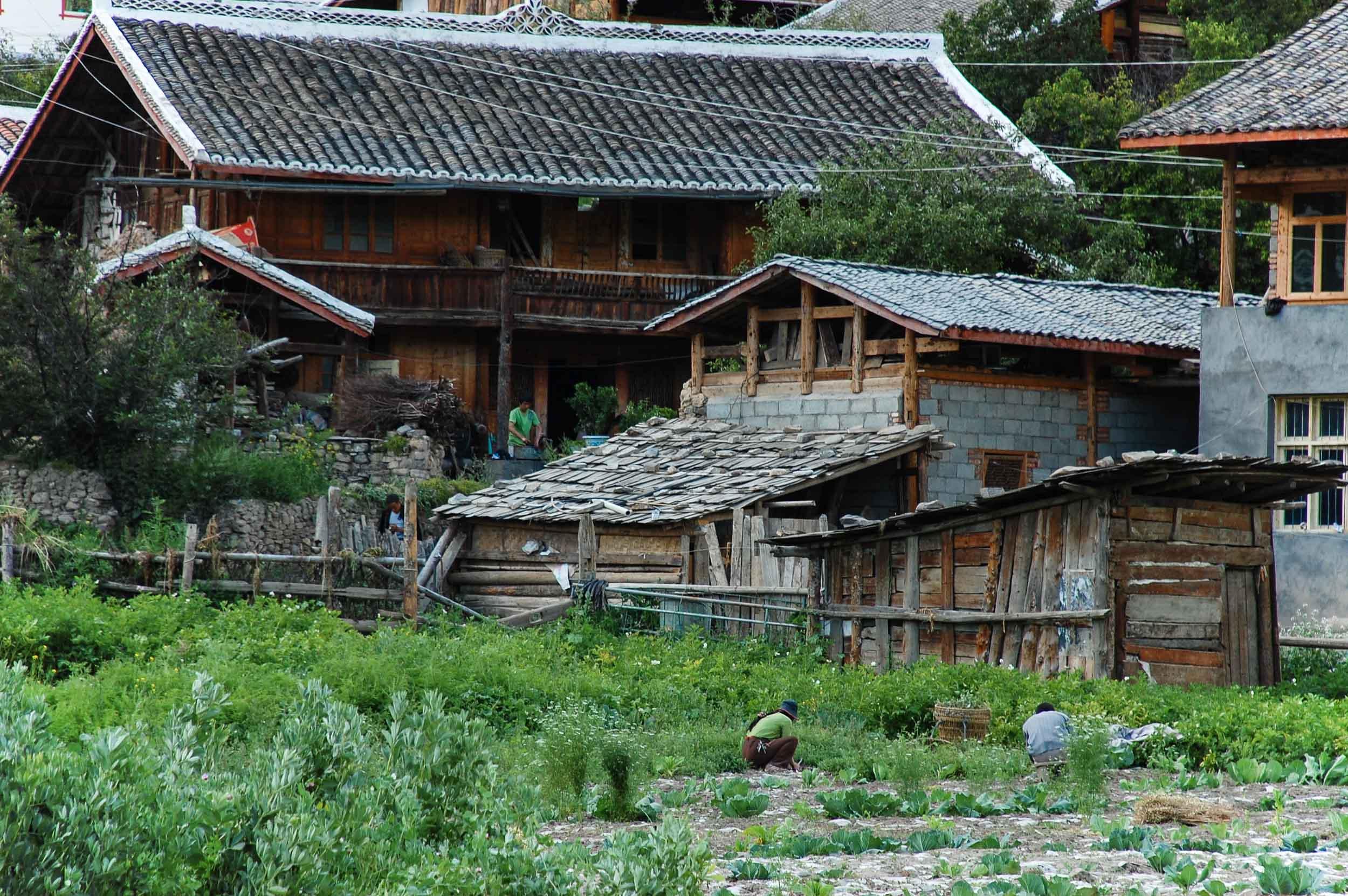 松潘 崖の上の集落