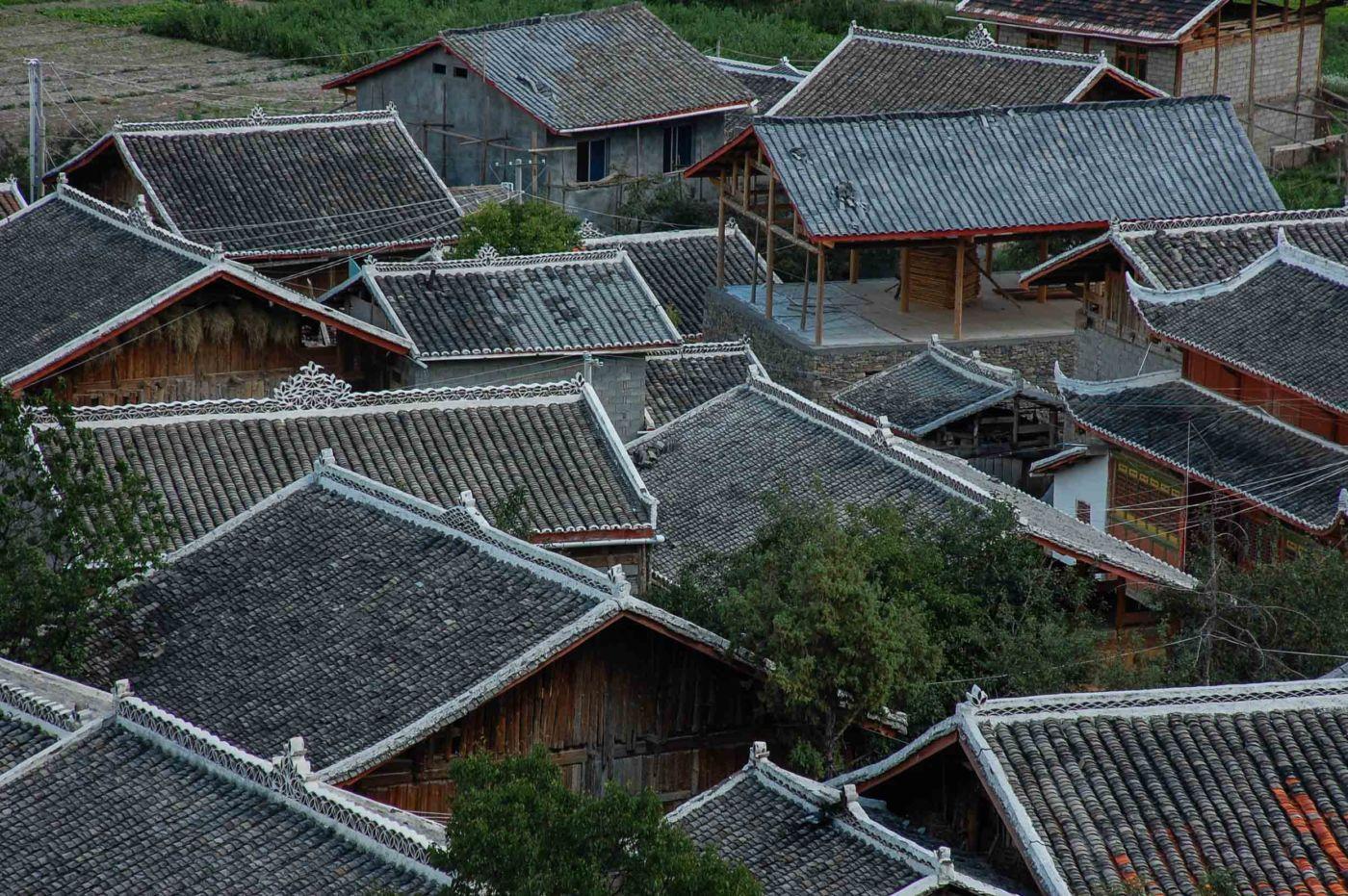 松潘 民家の屋根