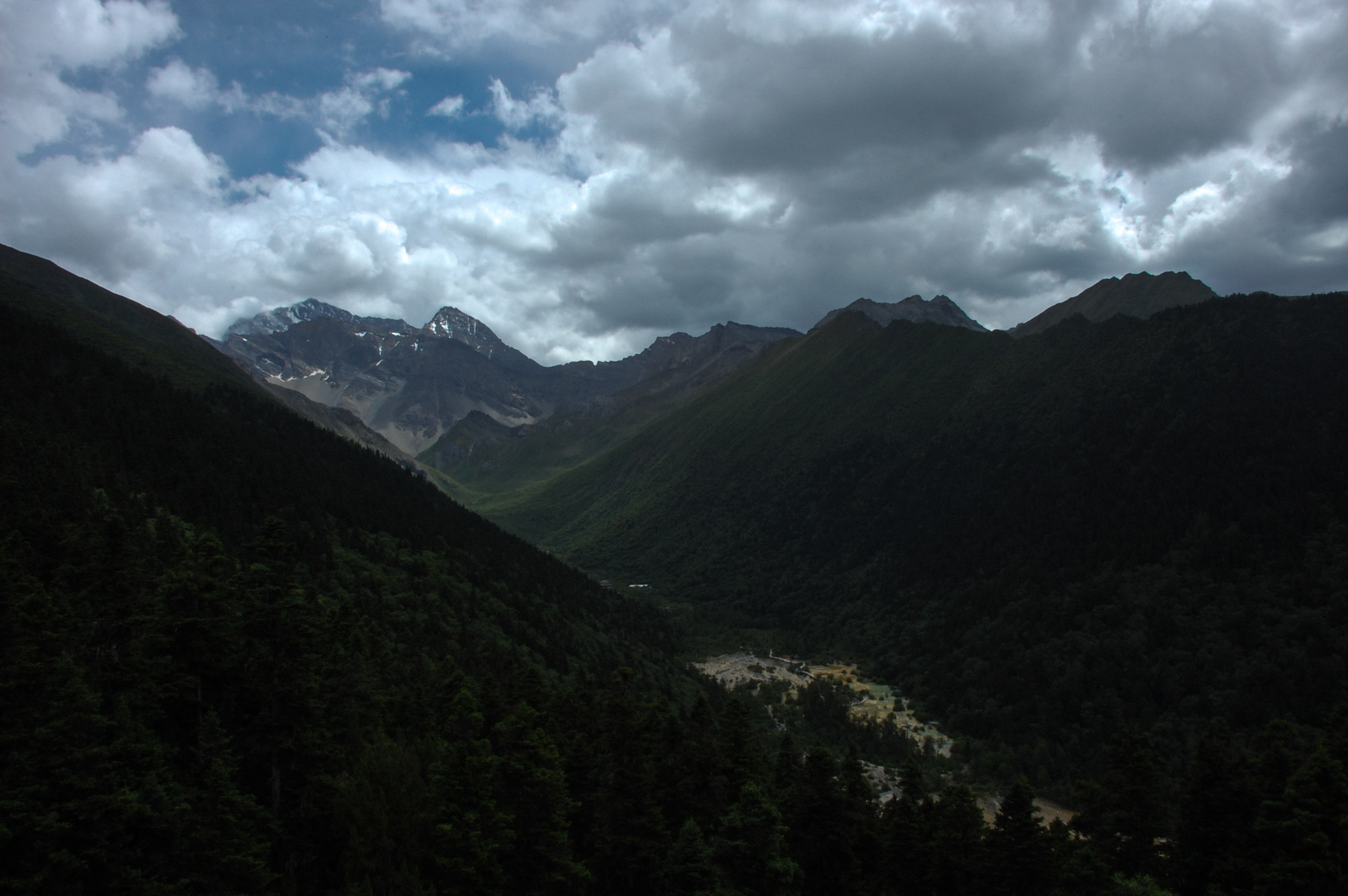 黄竜風景区の全景